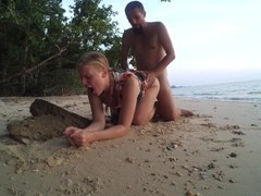rough beach sex true fuck & sand UnEdit UnCut horny naughty amateur couple Thumb