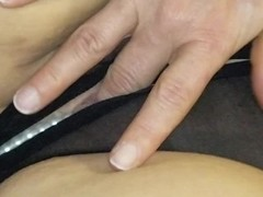 Sexy wife in crotchless panties fingering solo Thumb