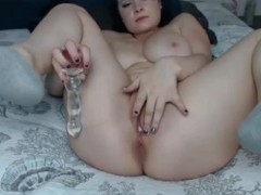 Webcam Girl Blue Hairs Amazing Tits Gets Orgasm with Dildo Thumb