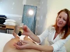 Good Old Fashion Cock Massage by Redhead Russian Teen Thumb