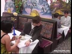 Rita Cardinale, Gangbang and Bukkake in the Restaurant Thumb