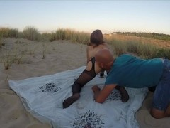 Tina get ass & tits flogged then fucked in the beach - real amateur Thumb