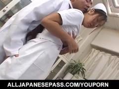 Erena Fujimori nurse enjoys cock and vibrator Thumb