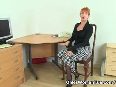 UK milf Red will assist you at the office today Thumb