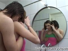 Slutty teen bathroom XXX Thumb