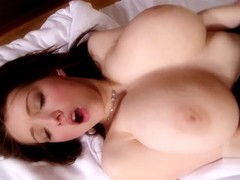 Teen with Big Natural Saggy Tits Fucked and Cum on Tits Thumb