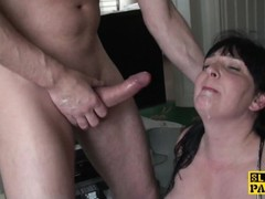 Bigtitted busty brit subs while pounded Thumb