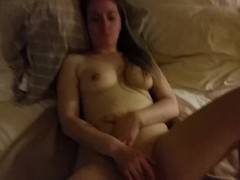 Clit slapping & rubbing, bf fingering my pussy & dick on my tits [AMATEUR] Thumb
