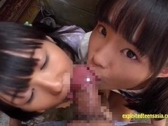 Petite Jav Teen Schoolgirls Rina And Asami Give Public BJ And Piss Exceptional Clip Thumb