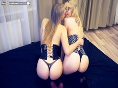 sexy lesbians two hot russian girls in real corsets playing with each other Thumb