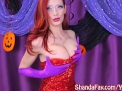 Shanda Fay as Jessica Rabbit for Slutty Halloween Solo! Thumb