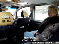 Czech Mature Blonde Hungry for Taxi Drivers Cock Thumb