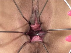 PJGIRLS Klarisa Leone extreme pussy stretching, self-fisting & special gyno wire dildo Thumb