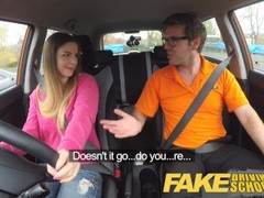 Fake Driving School full scene - Hot blonde student with big natural tits fucks for early exam Thumb