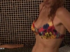 Mature ladies in shower and sauna Thumb