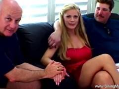 Blonde wife MILF fuck other man's big dick Thumb