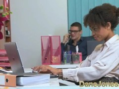 Dane Jones Sexy young Ebony office girl has the hots for her boss Thumb