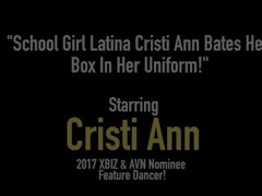 School Girl Latina Cristi Ann Bates Her Box In Her Uniform! Thumb