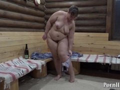 fatty fuck his hairy pussy, and a bottle of hand! Thumb