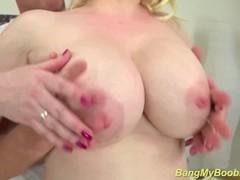 oiled chubby Milf boobs tit fucked Thumb