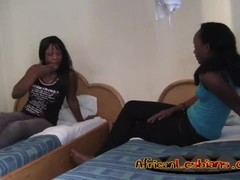 African lesbos lick and finger pussies in bedroom Thumb