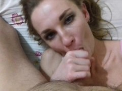 REAL SLUT AFTER THE CLUB SUCKS DICK AND SWALLOWS CUM Thumb