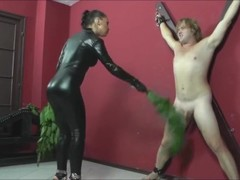 latex mistress gives her slave what he needs.mp4 Thumb