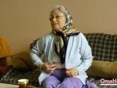 OmaHoteL Horny Grandma Toying Her Hairy Pussy Thumb