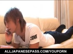 Iori Mizuki sucks dick and swallows like a pro Thumb