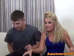 CFNM milf dominates over younger sub Thumb