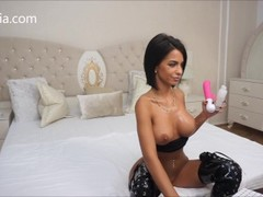 Anisyia LiveJasmin Huge toy pussy destruction extreme high heels Thumb