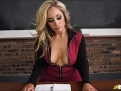 Busty teacher loves you WANKING over her massive TITS! Thumb