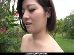 Dashing Asian woman, Minami Asano, full porn in outdoor Thumb