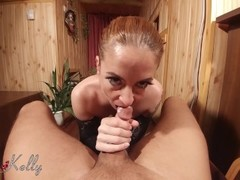 Very close up point of view blowjob with cum in mouth Thumb