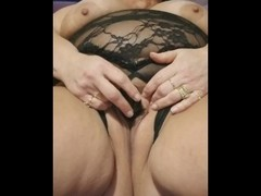 Big Boob BBW has Huge Squirt. Soaks the Sheets and her Pussy! Thumb