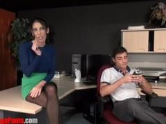 Dava Foxx Office Fantasy SWITCH FUCKING STRAP ON Thumb