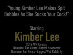 Young Kimber Lee Makes Spit Bubbles As She Sucks Your Cock! Thumb