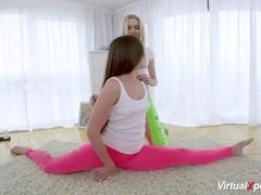 flexi lesbian teen stretching Thumb