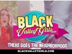 BlackValleyGirls - Hot BFFs share stepdads cock Thumb