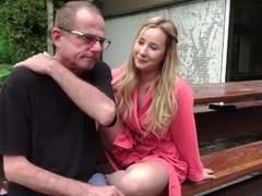 Grandpa Fucks Teen On Rainy Day and licks her tight pussy Thumb