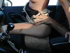 outdoor sex tattooed milf fucked in the car on a transited highway Thumb