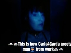 Carla4Garda Sucks and fucks her Guard (Irish Cop) to Creampie. Thumb