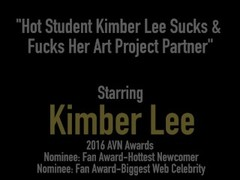 Hot Student Kimber Lee Sucks & Fucks Her Art Project Partner Thumb