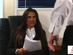 Brit voyeur instructs sub to jerk in office Thumb