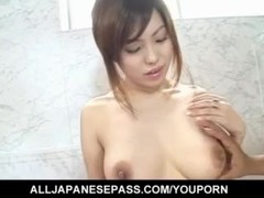 Big titted Miu Satsuki gets her pussy finger fucked hard and deep Thumb