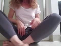 Requested, Playing With Myself in Leggings And Squirting All Over, So Wet! Thumb