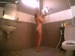 bathroom spy cam - codefuck shaving her pussy - sexy blonde teen in shower Thumb