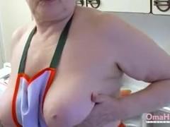 OmaHoteL Horny Grandma Chubby Solo Play Footage Thumb