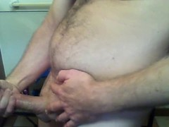 Wacking and measuring my cock Thumb