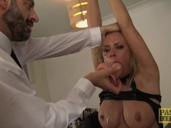 British skank Sasha Steele throated and fucked hard in ass Thumb